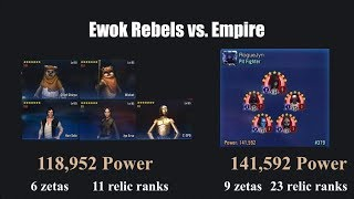 Ewok Lead Rebels easily beat stronger Empire Sith every time - SWGOH Star Wars Galaxy of Heroes