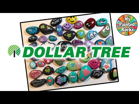 I PAINT AN ENTIRE BAG OF DOLLAR TREE ROCKS!  45 SMALL ROCK IDEAS!