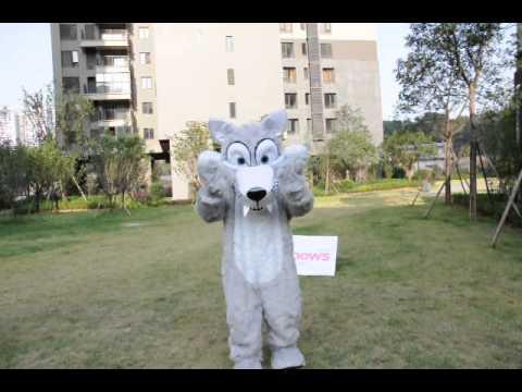 Wolf Mascot Costume - Mascotshows