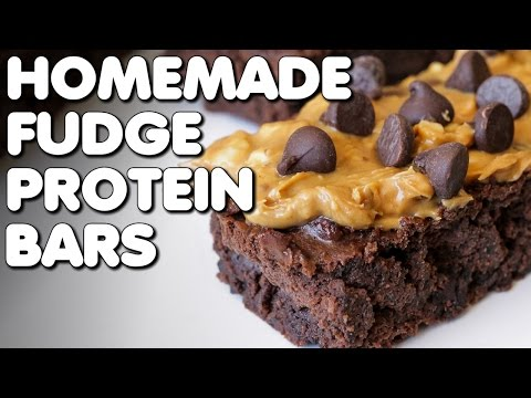 Download Youtube: HEALTHY HOMEMADE PROTEIN BARS | Chocolate Peanut Butter Fudge