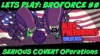 Lets play BROFORCE #15 (SERIOUS COVERT OPS | SUPER HARD!)