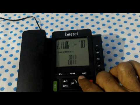 Set Date and Memory of Beetel M71 Land Line Phone