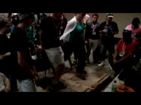 Gerf & Silvia play on BronyCons Wood DDR Pads