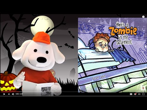 storytime pup children s book read aloud there s a zombie in the