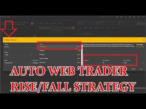 RISE/FALL STRATEGY BINARY BOT ONLINE-STRATEGY PROFIT AUTO WEB TRADER