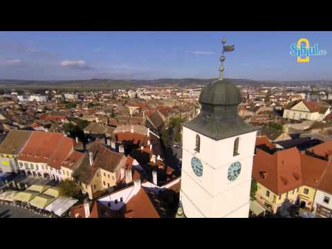 Turnul Sfatului, Sibiu / Aerial video by www.sibiul.ro