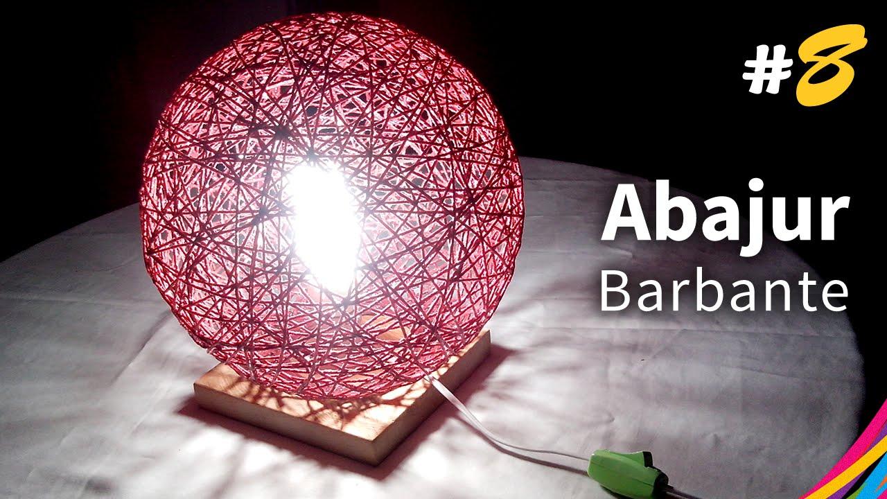 Abajur de barbante base table lamp of twine l mpara - Base de vela ...