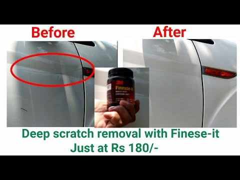 How to remove scratches from car with Rubbing Compound | Detailed Version