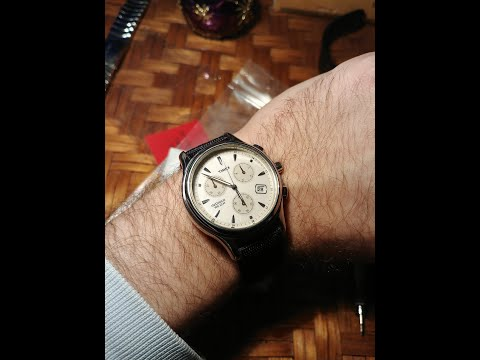 Timex Chronograph - Old Watch With New Canvas Strap From Watchgecko