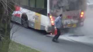 Bus Burns Down