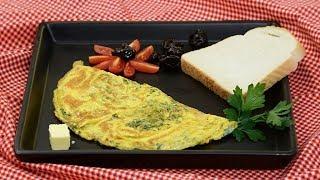 Peynirli Otlu Omlet Nasıl Yapılır? - SemenOner yemek tarifleri (Yumurta Tarifleri)