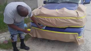 How to fix and paint a car bumper mobile repair
