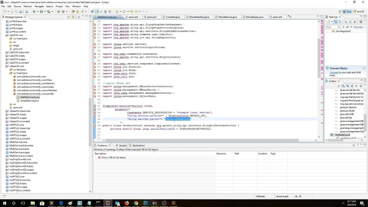 Invoke an AEM Servlet using AJAX