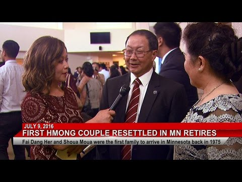 3HMONGTV NEWS: First Hmong couple arrived in Minnesota in 1975 celebrates their retirement.
