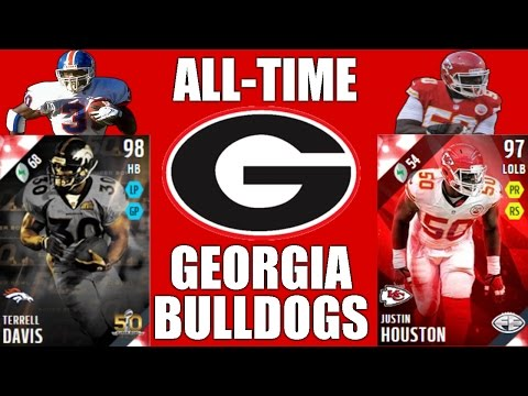 All-Time Georgia Bulldogs Team - Terrell Davis and Justin Houston! - Madden 16 Ultimate Team
