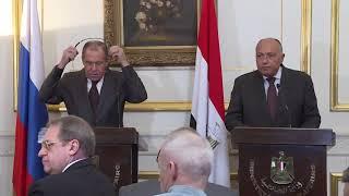 Пресс-конференция С.Лаврова и С.Шукри