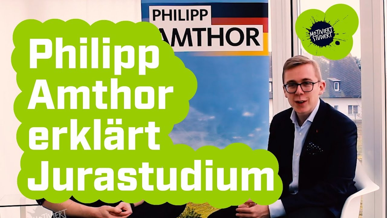 Jura Studieren Philipp Amthor Mdb Jurist Erklart Das Jura Studium Youtube