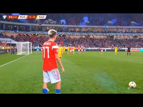 Как сыграли россия и казахстан в футбол