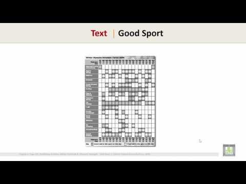 Reading Comprehension 3   Unit 5 - Text 2   Good Sport