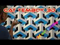 KEREN!!! CAT TEMBOK 3D | CAT DINDING KAMAR MOTIF 3D | 3D WALL PAINTING EFFECT