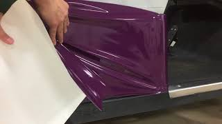 How to overlap cast vinyl wrap panels when seaming two panels together