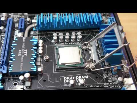 How to install intel CPU on a Motherboard