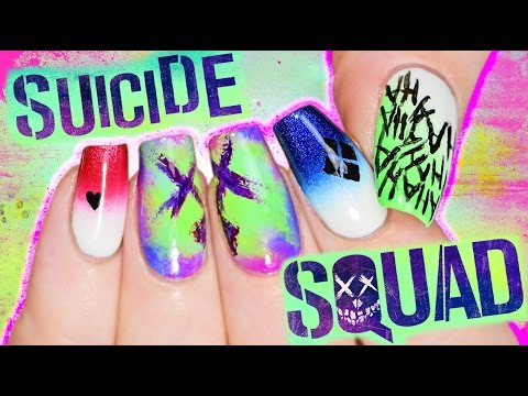 Thumbnail: Suicide Squad Nail Art Tutorial coz I'M BORED PLAY WITH ME