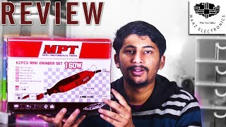 Unboxing & Review of MPT Electric Rotary Dremel Tool Mini Grinder 160W & 62pc Kit Urdu, Hindi