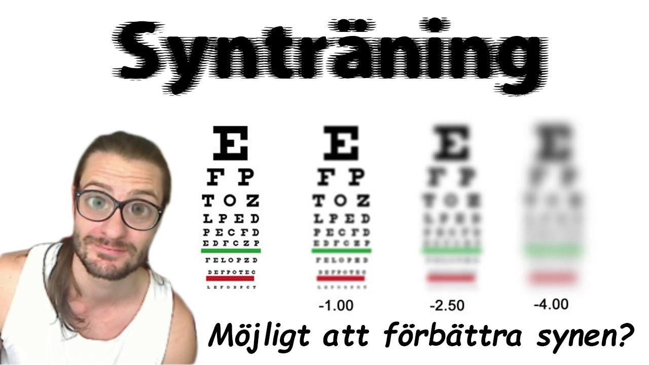 ögonträning för bättre syn