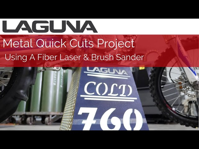 Making A Dirt Bike Stand Out of Metal Using A Fiber Laser & Brush Sander | Laguna Tools