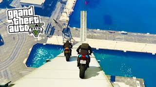 GTA 5 Online - BIKE STUNTS!!! Epic Bike Tricks & Stunts in GTA Online! (GTA 5 PS4 Gameplay)