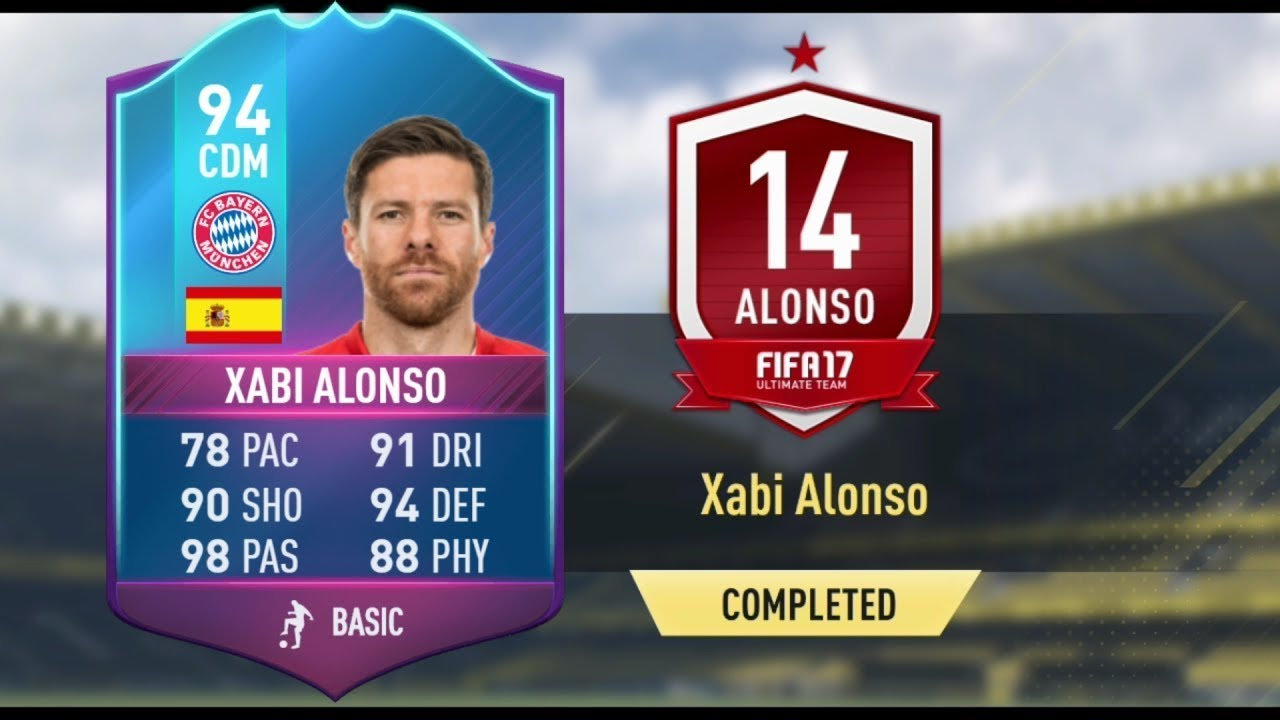 FIFA 17 94 XABI ALONSO SBC CHEAPEST SOLUTION Xabi Alonso End