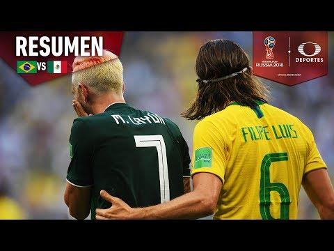 ¡Brasil termina con el sueño mexicano! | Brasil 2-0 México | Octavos | Mundial Rusia 2018