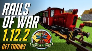 RAILS OF WAR MOD 1.12.2 minecraft - how to download and install [trains mod 1.12.2] (with forge)