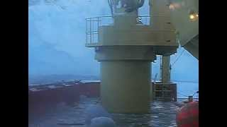 Giant wave hits ship