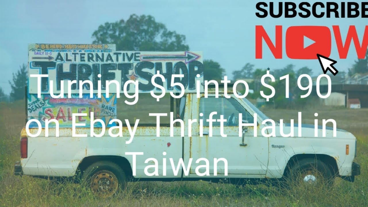 Spent 5 And Resold On Ebay For 190 Thrift Haul Taiwan Youtube