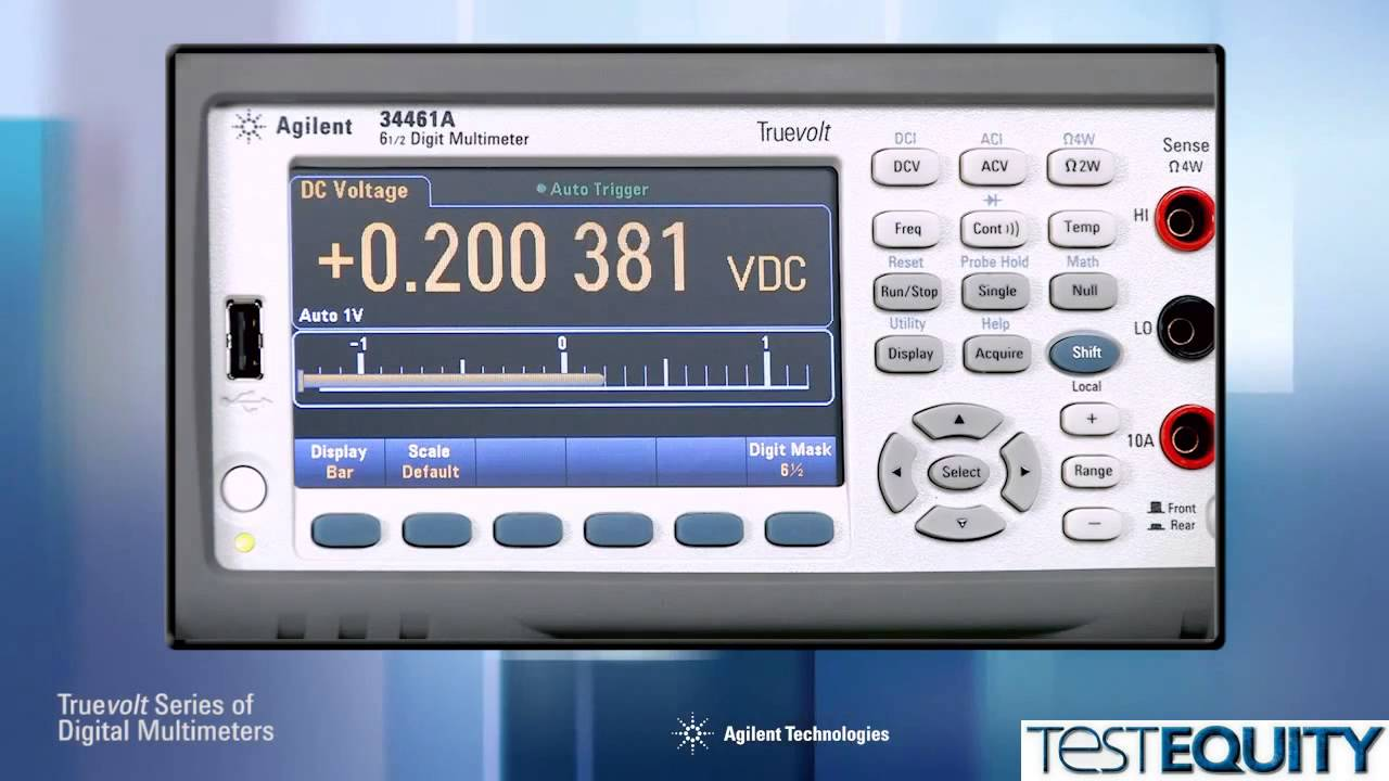 keysight 34460a and 34461a digital multimeter with truevolt rh youtube com Images of Multimeters DMM Agilent 34401A User Manual