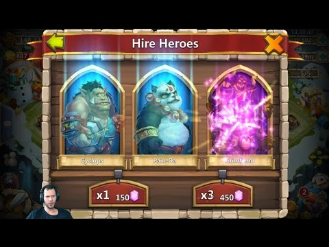 Rolling 35000 Gems Looking For Medusa & LIL Nick Castle Clash