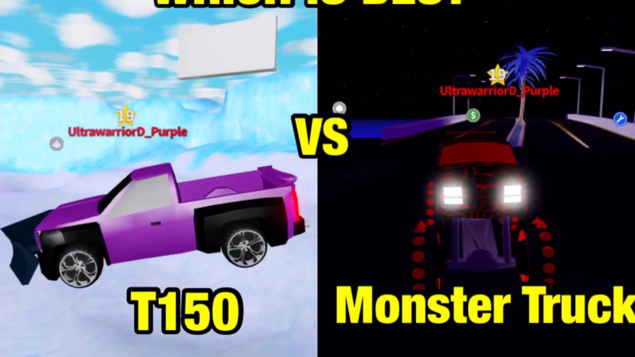 Roblox Mad City T150 Vs Monster Truck Which Is Best Youtube