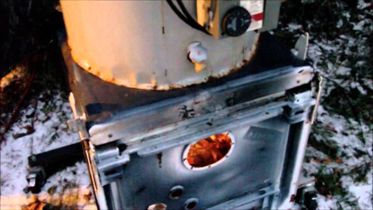 Homemade Wood Fired Hot Water Heater From Junk Youtube
