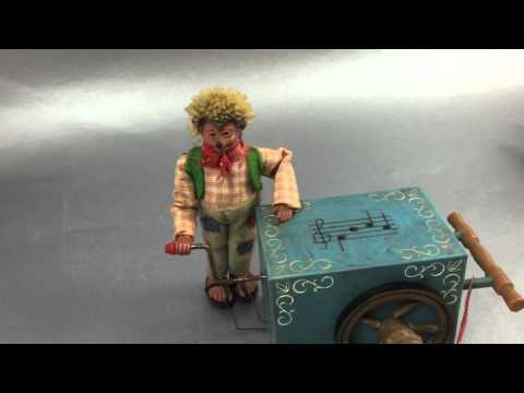 Original Peter Hedgehog Organ Grinder Austrian Music Box