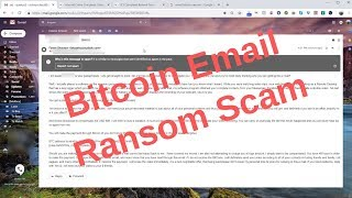 Bitcoin Email Blackmail Ransom Scam