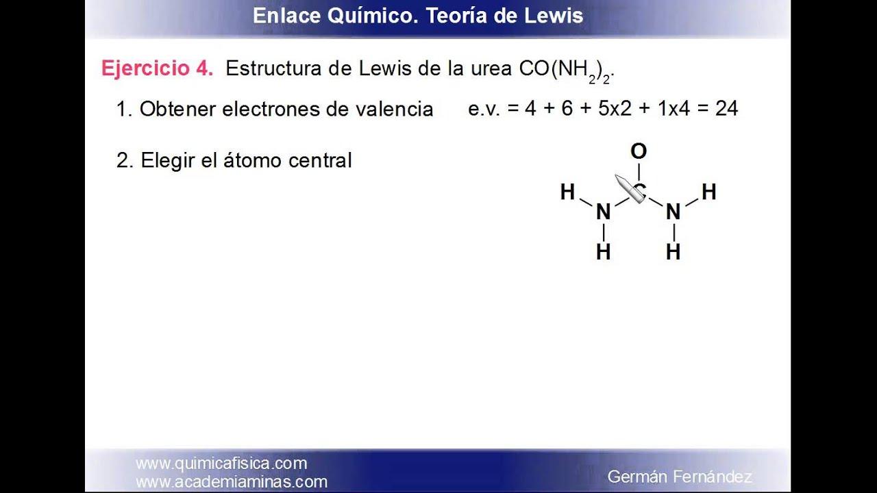 estructura de lewis de la urea
