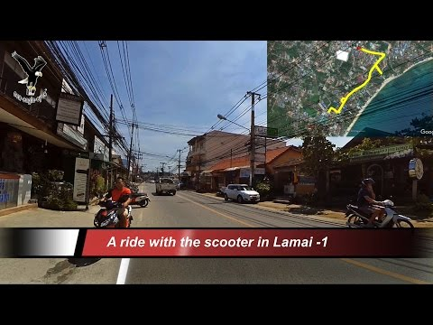 A ride with the scooter in Lamai -1 / Koh Samui