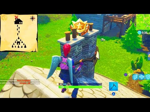 """Follow the treasure map found in Moisty Mire"" Location Fortnite Week 9 Challenges!"
