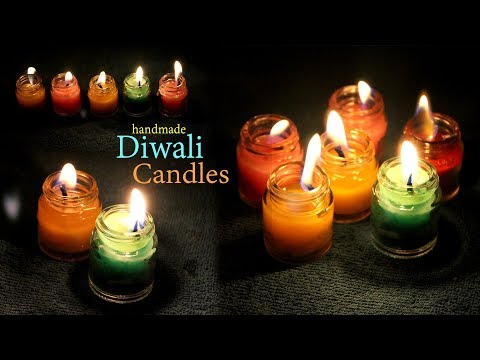 Handmade Diwali Candles from Fabric Colour Bottle   glass bottle craft   diy diwali candle