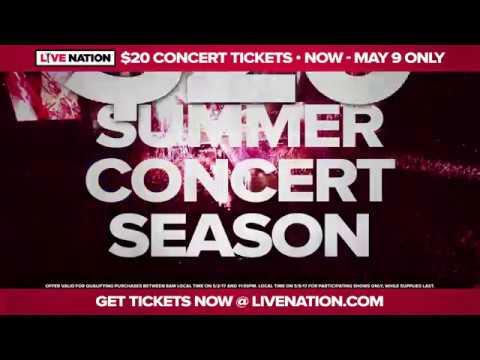 Live Nation $20 Ticket Offer 2017