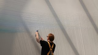 Anne Lindberg turned a web of thread into an atmospheric horizon in...