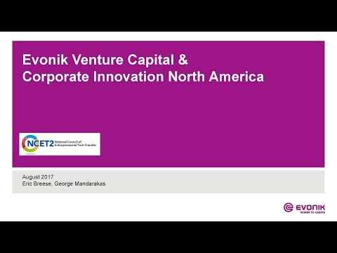 EVONIK - DEVELOPING YOUR IP AND STARTUPS THROUGH CORPORATE STRATEGIC ALLIANCES