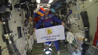 Yerevan's flag sent to ISS for a space trip